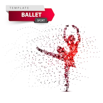 Ballet, sport, dancing girl illustration