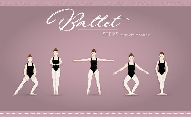 Ballet steps pas de bourree