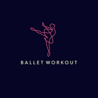 Ballet workout monoline logo