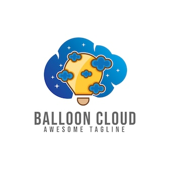 Ballon cloud logo design