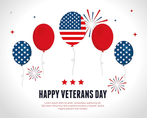 Баллоны празднования в день войны ветеранов