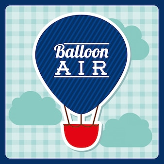 Balloon air  design over background vector illustration