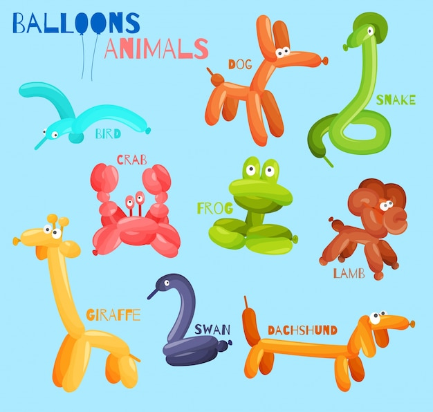 Balloon animals isolated
