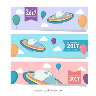 Balloon banners and world pride day