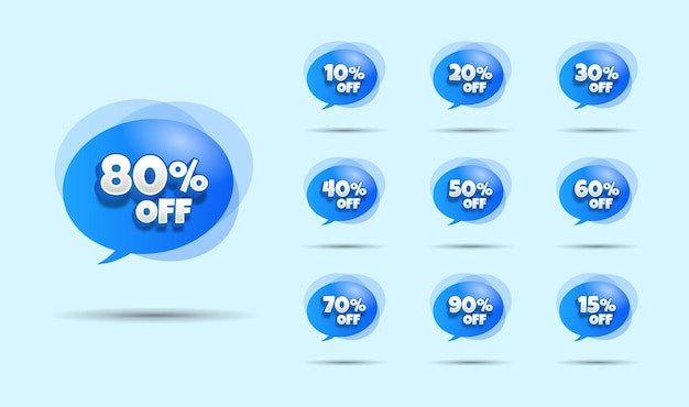 Balloon discount sale tag with editable text style. editable price discount tags.