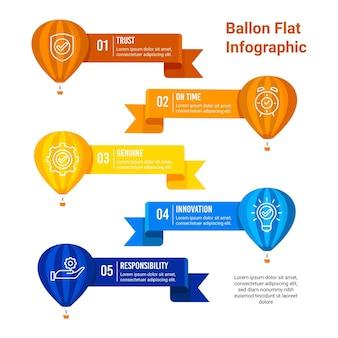 Balloon infographic concept