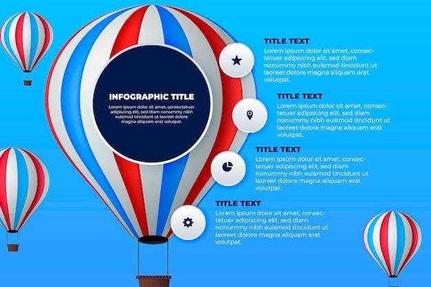 Воздушный шар инфографики дизайн