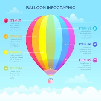 Balloon infographic template