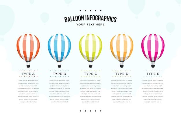 풍선 infographic 템플릿