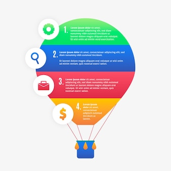 Воздушный шар инфографики