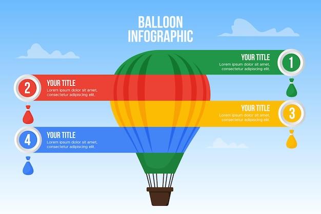 Воздушный шар инфографика