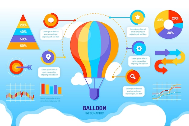 Balloon infographics