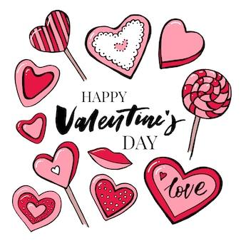 バレンタインデーテキストballoon-love