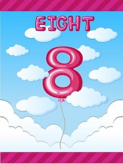 Balloon number eight on sky