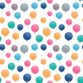 Воздушный шар бесшовные узор на белом. векторная иллюстрация