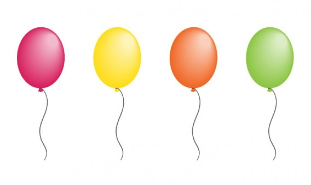 Balloon vector with 8 colors