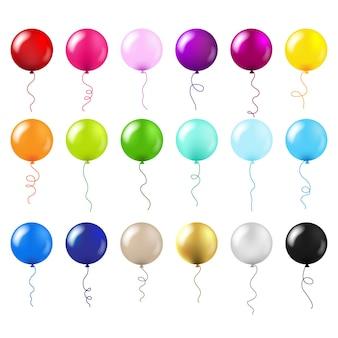 Balloons big set isolated