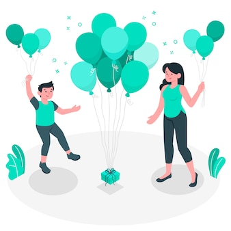 Balloons concept illustration