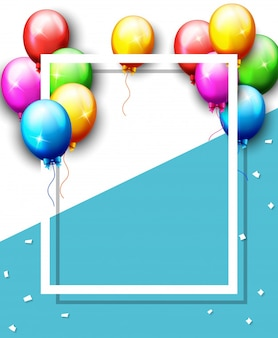 Balloons and confetti for parties birthday