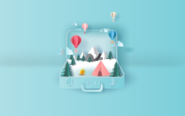 Balloons floating travel holiday tent camping