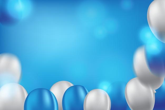 青い背景に風船