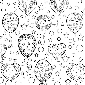 Balloons pattern background