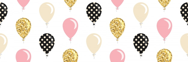 Balloons seamless pattern.