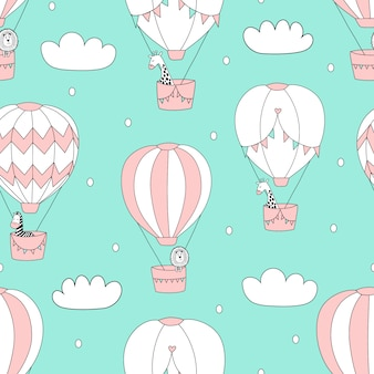 Balloons in the sky pattern