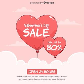 Balloons valentine's day sale background