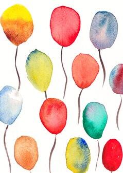 Воздушные шары акварель искусство и дизайн