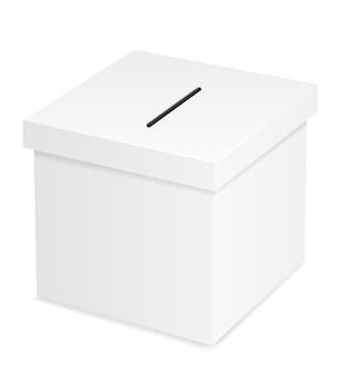Урна для голосования на выборах, изолированные на белом фоне