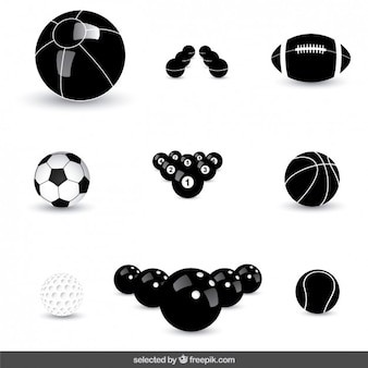 Balls icons collection