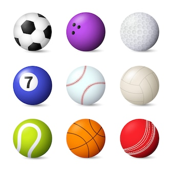 Balls set vector illustration