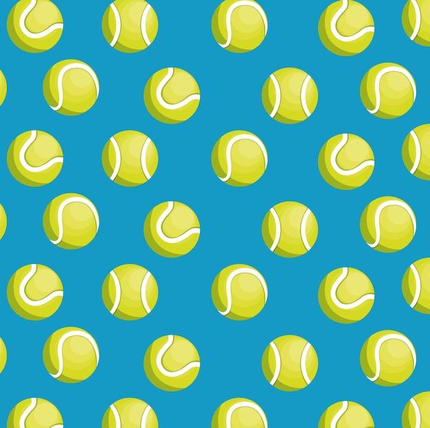 Balls tennis seamless pattern design
