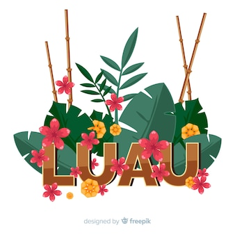 Bamboo canes luau background
