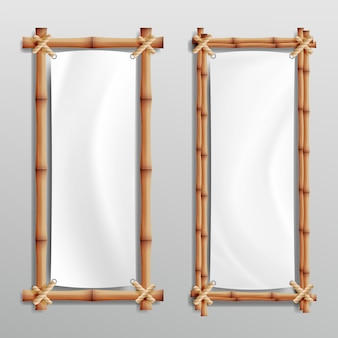 Bamboo frame realistic