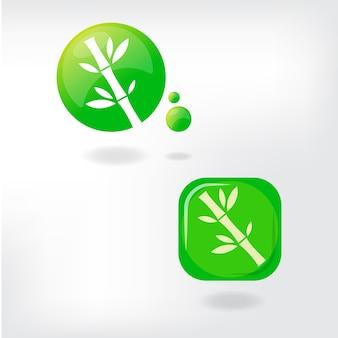 Bamboo logo template download vector