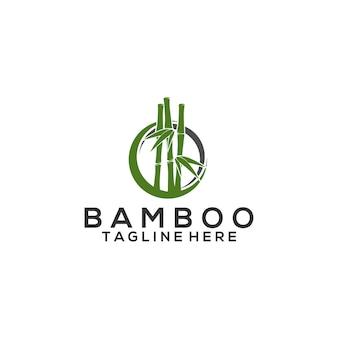 Шаблон логотипа бамбука