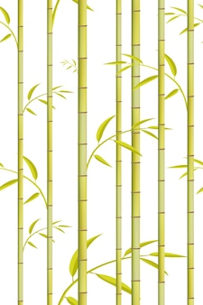 Bamboo pattern.  green tree background.