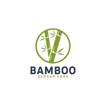 竹、リラクゼーション、ロゴテンプレート