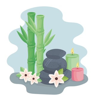 Bamboo and spa icons