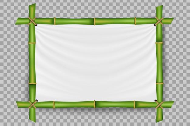 Bamboo stems frame, blank template.