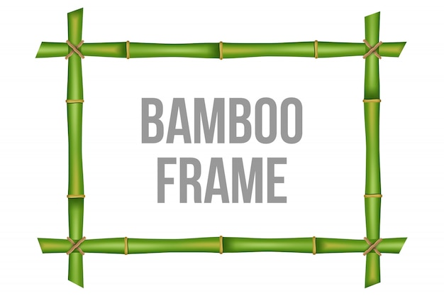 Bamboo stems frame  template
