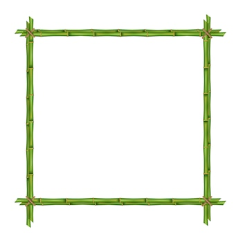 Bamboo stems frame template.