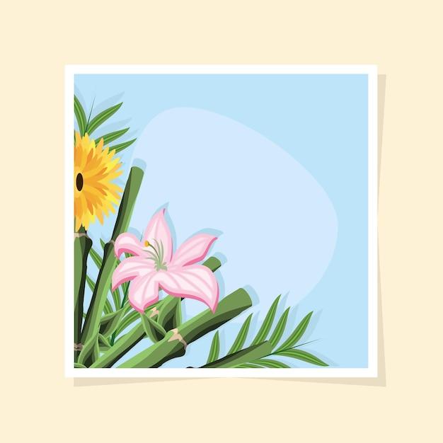 대나무 스틱 꽃