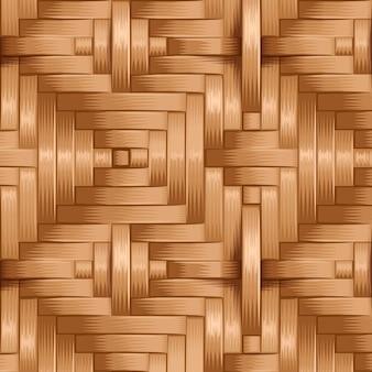 竹製織パターン、天然wテクスチャ表面 Premiumベクター