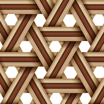 Bamboo wood weaving pattern, natural wicker texture surface