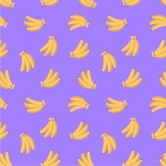 バナナの背景のシームレスなパターンの背景
