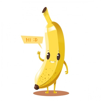 Banana cartoon character design
