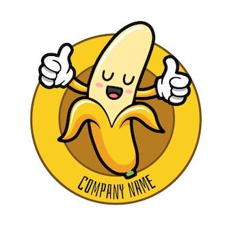 バナナキャラクターロゴテンプレート